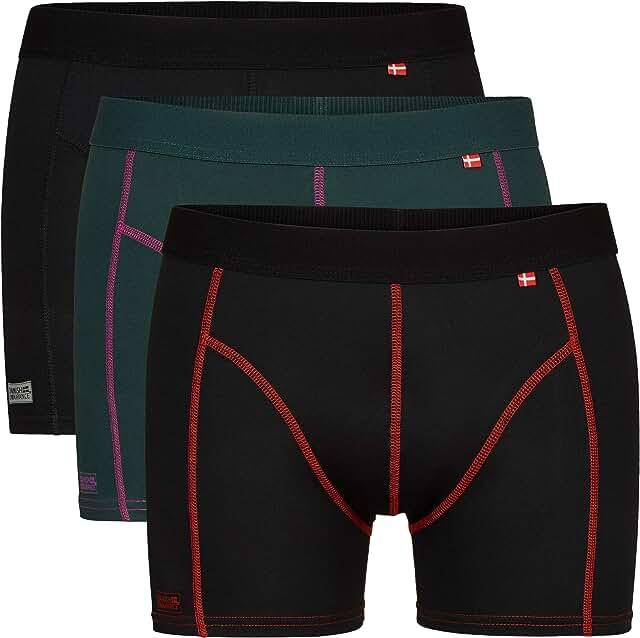3 Pack Men's Sports Boxer Briefs, Oeko-TEX Standard, Multipack, Fast Drying, Breathable, Odor-Resistant