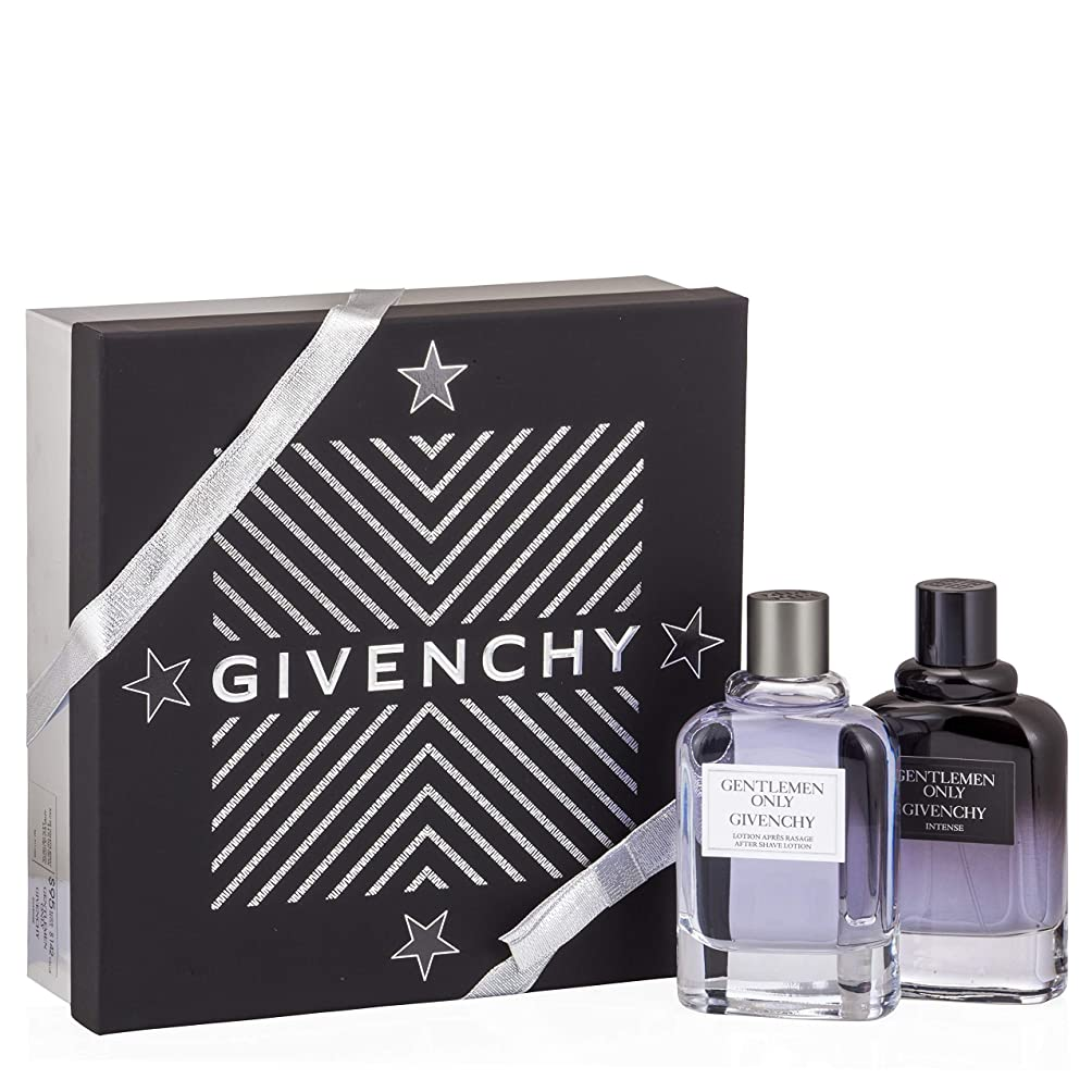 加害者透明に対応するジバンシィ Gentlemen Only Coffret: Intense Eau De Toilette Spray 100ml/3.4oz + After Shave 100ml/3.3oz 2pcs並行輸入品