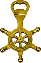 Nautical Tropical Imports Shipwheel Handheld Bottle Opener Brass with Lacquer Coating