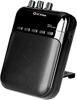 Aroma Guitar Amp Mini Portable Clip Amplifier Speaker Recorder 2 in 1 Chargeable w/TF Card Slot for Acoustic Electric Guitar, Electric Guitar, Electric Violin Accept 1/4