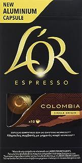 L'Or Café Espresso Colombia | 5 Paquetes x 10 cápsulas - Total: 50 cápsulas