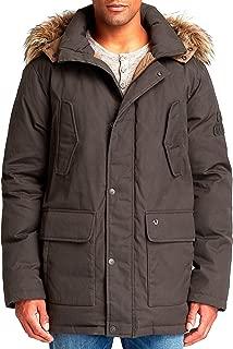 True Religion L/S Parka Winter Down Jacket - Dark Olive - Mens - XL