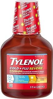 Tylenol Cold + Flu Severe Flu Medicine, Liquid Daytime Cold and Flu Relief, Honey Lemon, 8 fl. oz (Pack of 3)