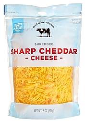 Amazon Brand - Happy Belly Shredded Sharp Cheddar Cheese, 8 Ounce