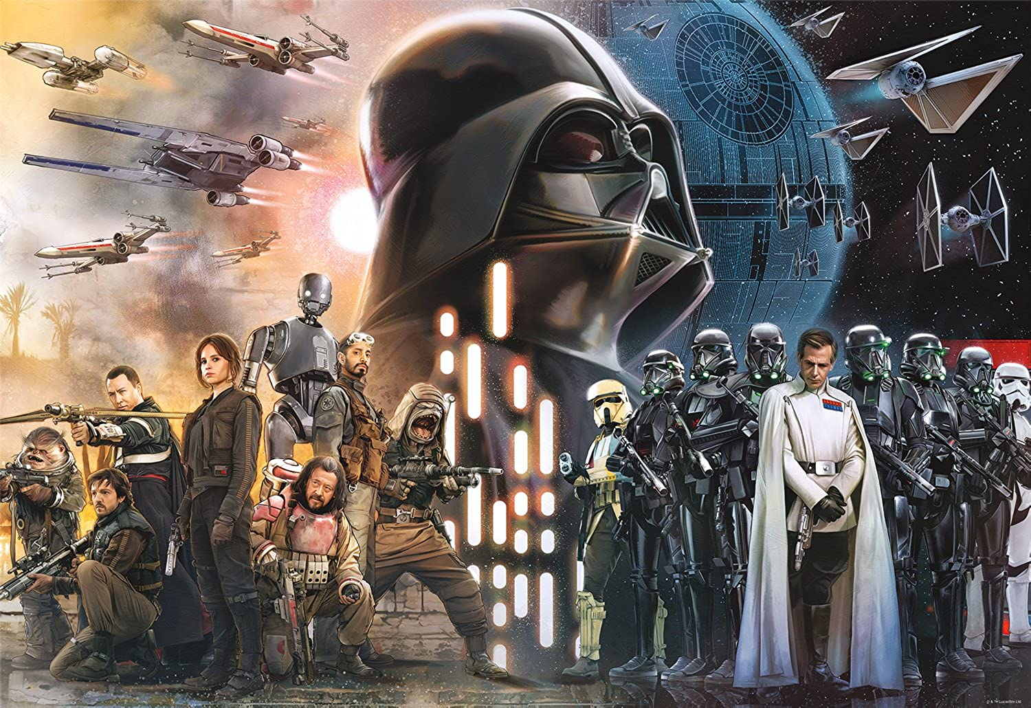 Star Wars  Rogue One - Rebellions are Built on Hope – 2000-piece Jigsaw Puzzle
