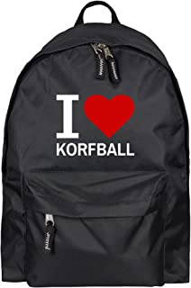 Mochila Classic I Love Korfball colour negro