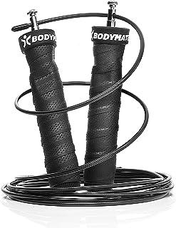 BODYMATE Premium springtouwen met anti-slip handgrepen, verstelbare staalkabels met extra bescherming tegen slijtage, hig...
