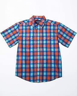 Panhandle Boys' Rough Stock Ludlow Vintage Plaid Short Sleeve Western Shirt
