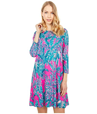 Lilly Pulitzer Ophelia Dress (Mandevilla Pink Talk Story To Me Engineered Knit Dress) Women