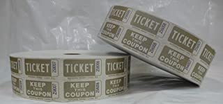 Gold Bristol Double Roll Tickets (2/pack)