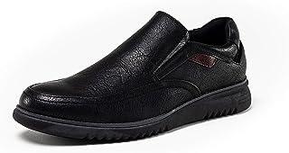 Zapatos de Trabajo Sin Cordones Negros DENVER Footwear Camarero y Cocina. Calzado cómodo, Acolchado, Flexible. Suela de Go...
