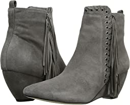 Grey Leather Suede