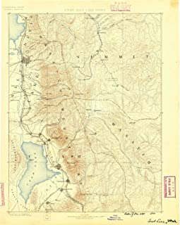 YellowMaps Salt Lake UT topo map, 1:250000 Scale, 1 X 1 Degree, Historical, 1885, 19.9 x 15.9 in