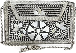 Trend Overseas clutch for women stylish latest Ethnic Bridal Wedding Metal bag elegant Royal party purse girl gift