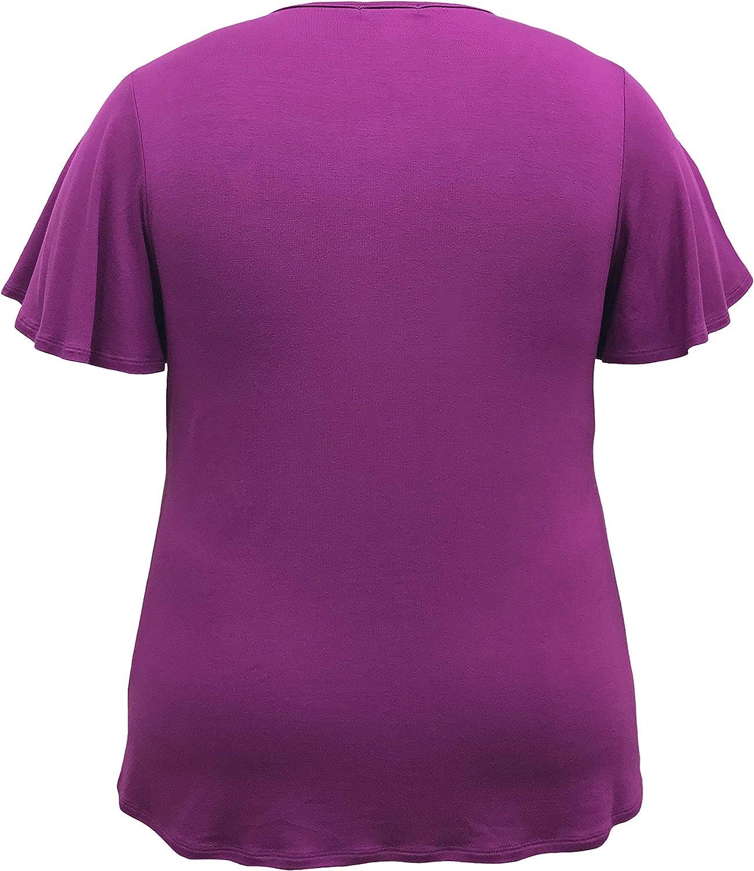 LEEBE Womens Plus Size Ruffle Top 1X-5X