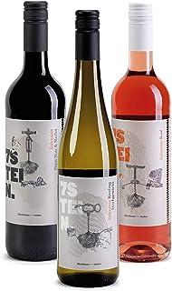 7STEIN Probierpaket Sonnenuntergang - 1 Weißwein, 1 Roséwein und 1 Rotwein - 3 erstklassige Weine für genussvolle Abendstunden 2019 trocken 3 x 0.75 l