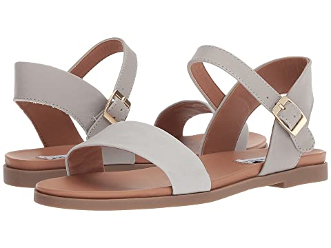 STEVE MADDEN Dina Sandal, Grey Leather