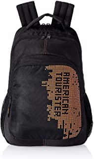 American Tourister Black and Orange Casual Backpack