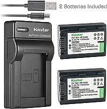 Kastar Battery (X2) & Slim USB Charger for Sony NP-FH50 NP-FH40 NP-FH30 NP-FP50 NP-FP51 and Sony A230 A290 A390 DSC-HX1 HX100 HX100V HX200 HX200V HDR-TG1E TG3 TG5 TG7 Camera
