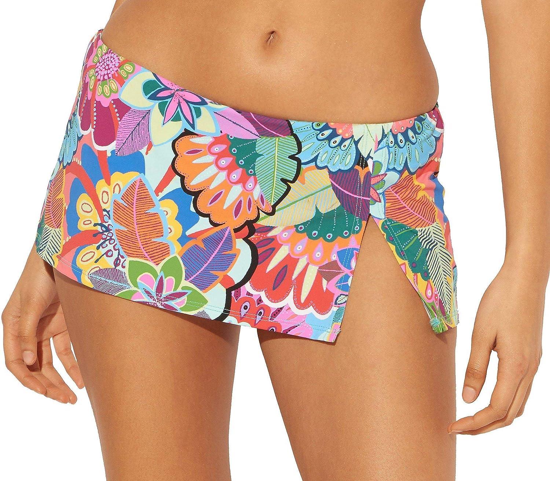Bleu Rod Beattie Women's Make It Pop Banded Skirted Hipster Bikini Bottom