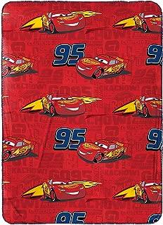 Disney/Pixar Cars 3 Kachow Red Plush - Travel Blanket with Lightning McQueen - 40