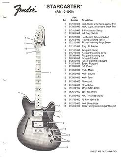 Best fender starcaster electric guitar manual Reviews