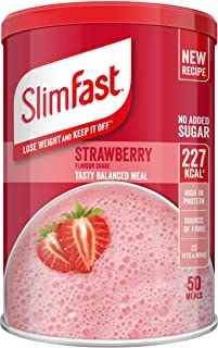 SlimFast Meal Shake, Strawberry Flavour, New Recipe, 50 Servings, Lose Weight and Keep It Off, Packaging May Vary