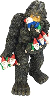 GlitZGlam Large Miniature Bigfoot and Gnomes for The Fairy Garden. A Large Garden Gnome Figurine (13 inch High) and a Fairy Garden Accessory