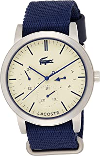 Lacoste Men's Quartz Watch Analogue Display and Fabric Strap 2010875, Blue Band