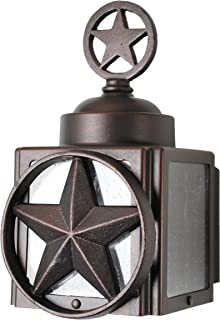 Melissa Lighting LS1220 Western Outdoor Wall Mount from Lone Star Series Collection in Bronze/Darkfinish