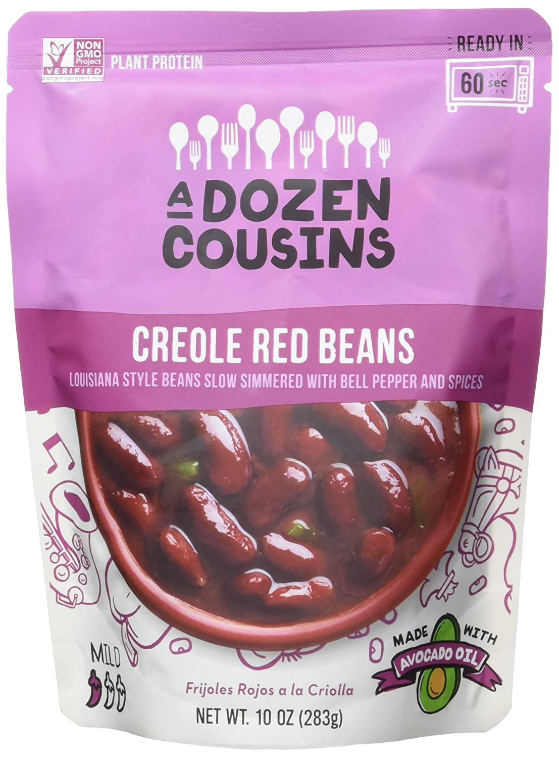 A DOZEN New mail order COUSINS New product type Creole Red Beans 10 OZ