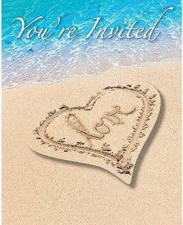 Beach Love Invitation Postcard (8) Invites