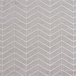 B0880A Grey and Silver Woven Chevron Chenille Upholstery Fabric by The Yard