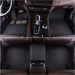 Okutech Custom Fit XPE-Leather All Full Surrounded Waterproof Car Floor Mats for Mercedes Benz S class S280 S300 S320 S400 S500 S550 S63 4 doors 2014-2019,Black with black stitching