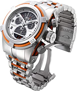 Invicta Mens 16315 Bolt Silver-Tone Stainless Steel Watch With Orange Wire