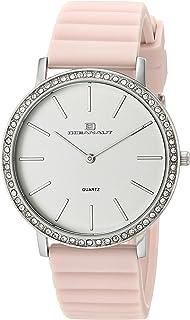 Oceanaut Women's Ripple Stainless Steel Quartz Rubber Strap, Pink, 17.5 Casual Watch (Model: OC0263)