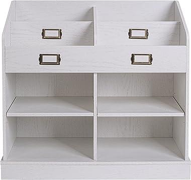 Spirich Kids Bookshelf and Toy Storage Organizer,Book Organizer for Shelves,Display Bookcase Storage with Toy Box,Oak