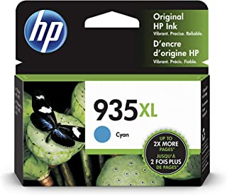 HP 935XL C2P24AE, Cartucho de Tinta Original de alto rendimiento, compatible con impresoras de inyección de tinta HP OfficeJet 6820; HP OfficeJet Pro 6230, 6830, cian