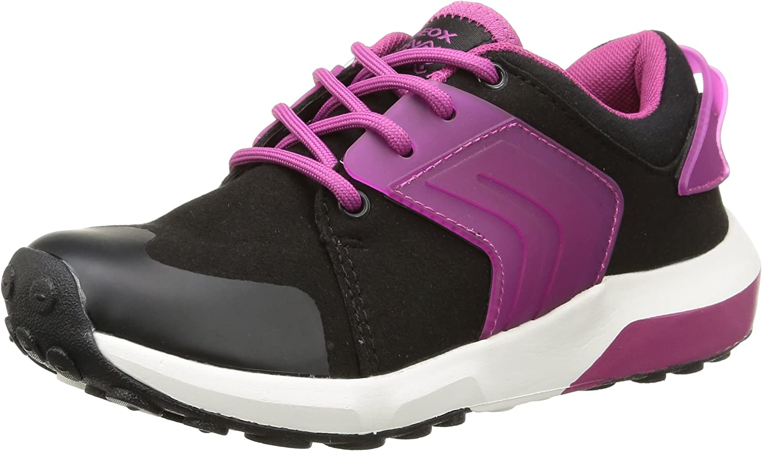 GEOX J Asteroid G Girls Trainers shoes - Black Fuchsia