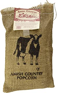 Amish Country Popcorn - Burlap Medium White Kernels (2 Pound Bag)- Old Fashioned, Non GMO, and Gluten Free - with Recipe Guide