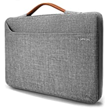 tomtoc 14 inch Laptop Sleeve Handle Zipper Case Compatible with 15 Inch New MacBook Pro Touch Bar Late 2016-2019 A1990 A1707, 14 Inch ThinkPad T-Series, X1 Yoga, Briefcase with Accessory Pocket
