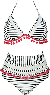 black white and red bikini