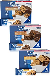 Pure Protein Bars, High Protein, Nutritious Snacks to Support Energy, Low Sugar, Gluten Free, Guilt Free Variety Pack, 1.7...