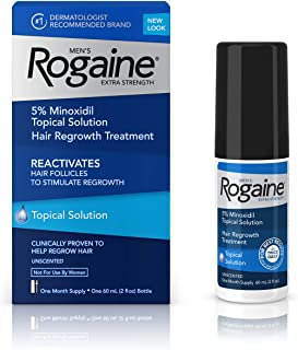Men's Rogaine Extra Strength 5% Minoxidil Topical Solution for Hair Loss and Hair Regrowth, Topical Treatment for Thinning...