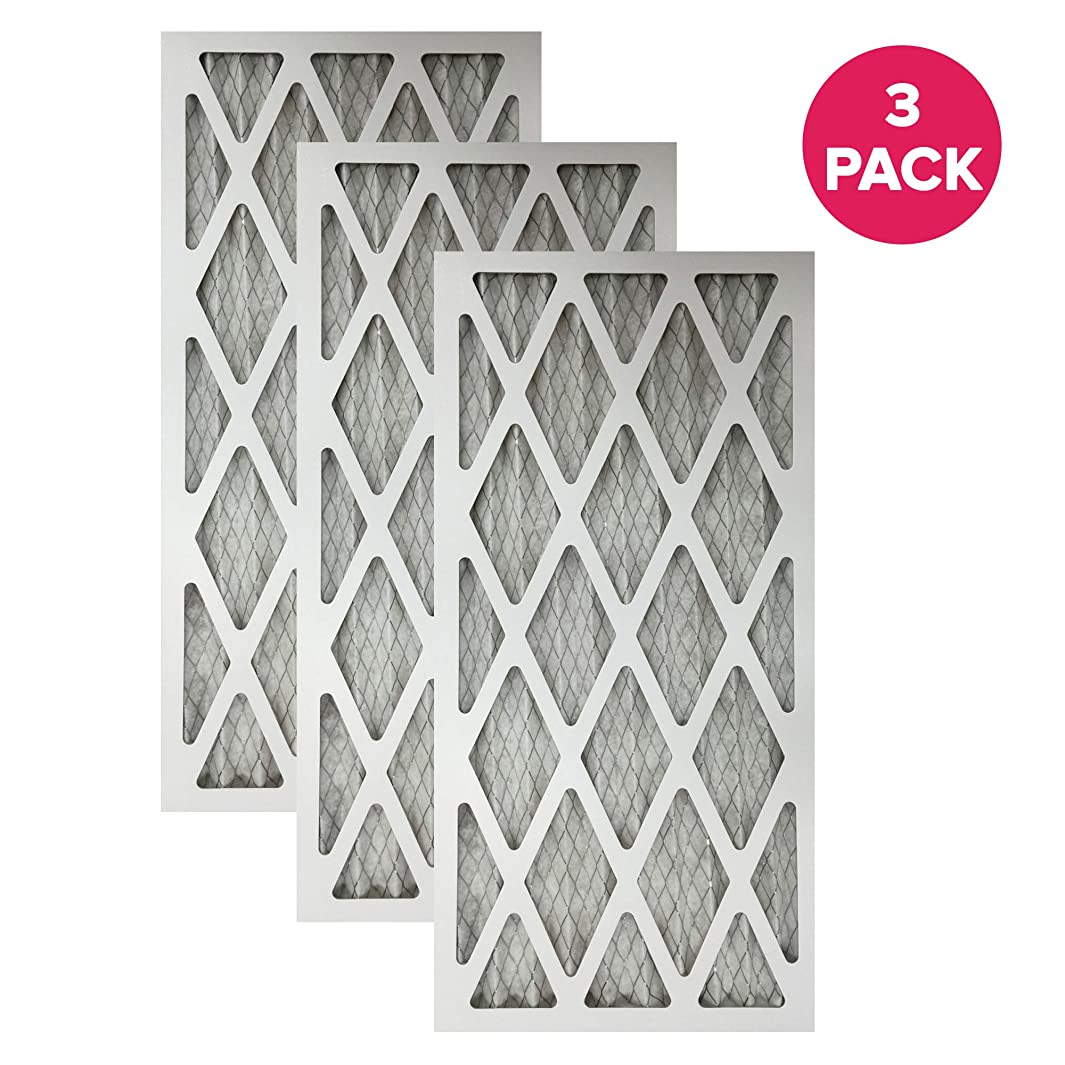 Think Crucial 3 Replacements for 16x25x1 MERV 11 Pleated Allergen Air Furnace and Air Conditioner Filter