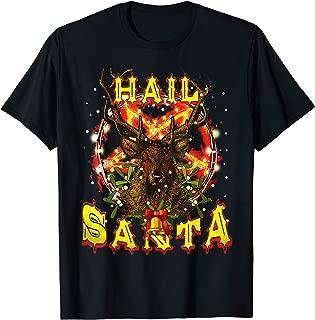 Hail-Santa Satan Reindeer Christmas T-Shirt