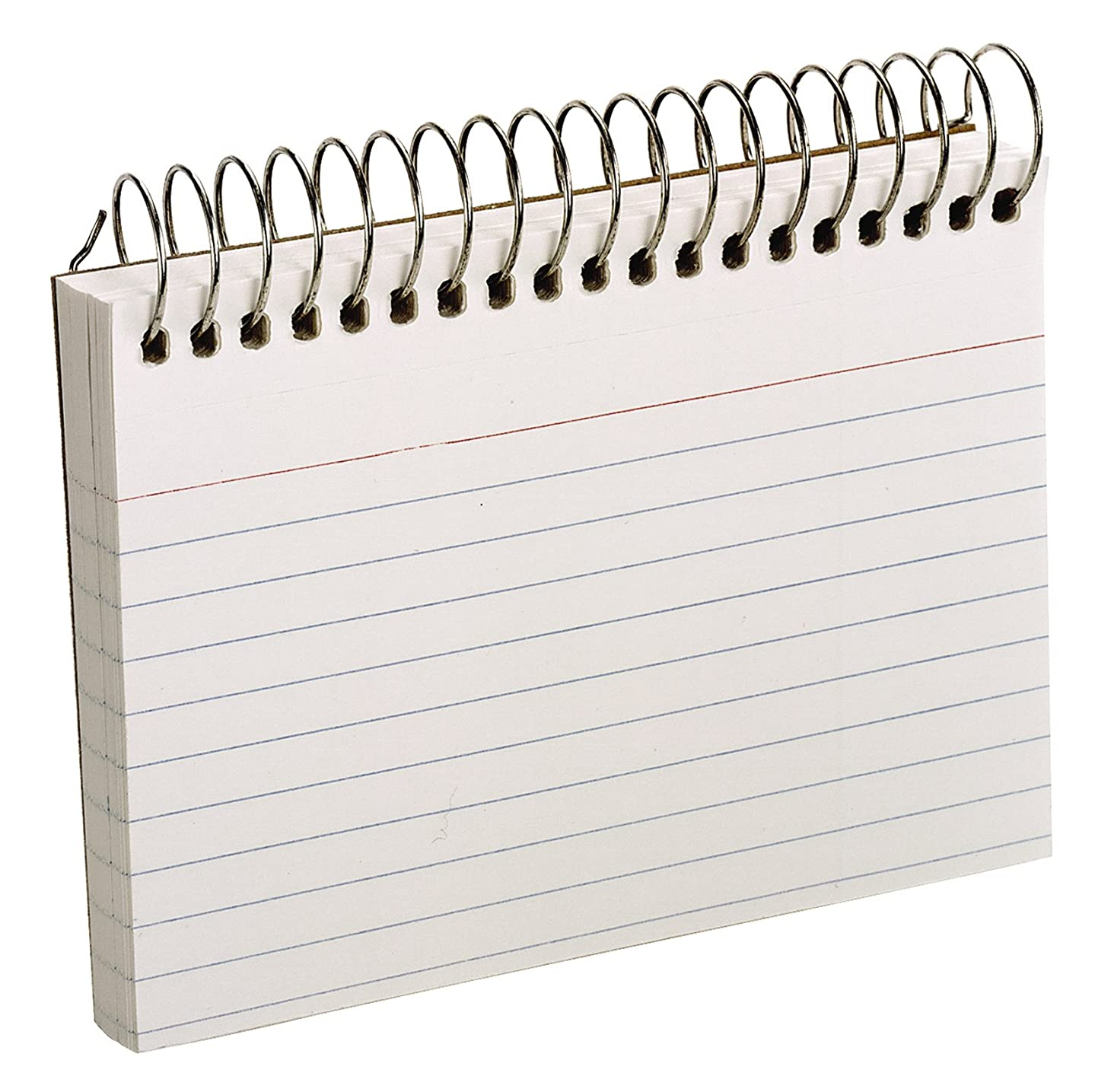 Oxford Spiral Ruled Index Cards, 3 x 5 Inches, White, 50 per Pack (40282)