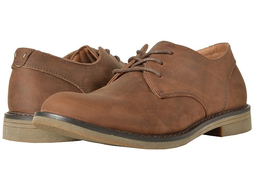 Nunn Bush Linwood Plain Toe Oxford (Brown Leather) Men