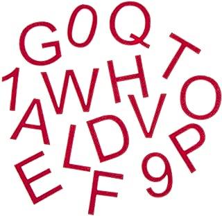 Darice 30005166 Alphabet Stickers Red Adhesive Felt Alphabet Letter Stickers