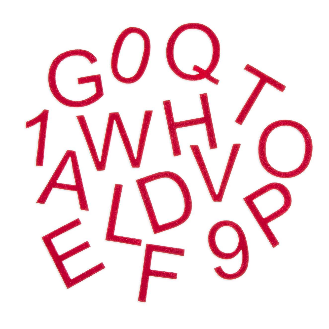 Darice Red Adhesive Felt Alphabet Letter Stickers